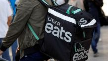 Uber Eats delivery cyclist