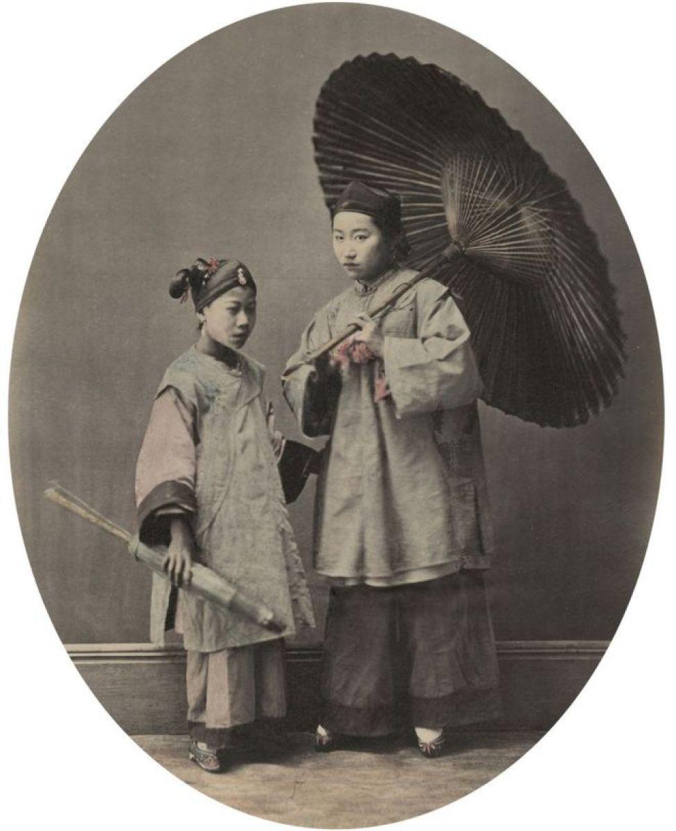 Mujer y niña de Shanghai