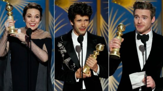 Olivia Colman, Ben Whishaw and Richard Madden , Golden Globes 2019