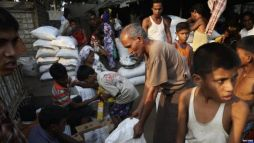 Image result for Displaced Rohingya Muslims receive food, medical aid