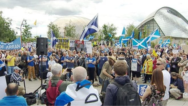 Protest at Pacific Quay