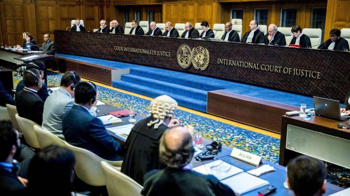 Los jueces de la CIJ en La Haya