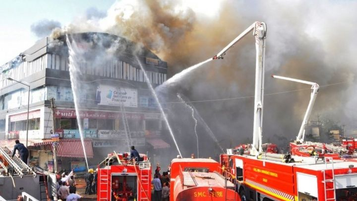 Image result for At least 20 students killed in tutoring center fire in India: officials