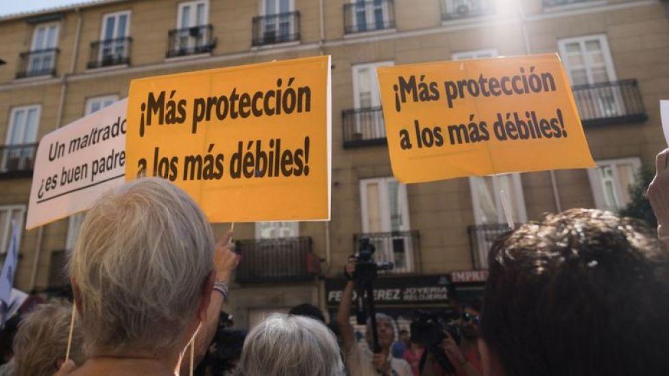 Manifestación en apoyo a Juana Rivas en Madrid.