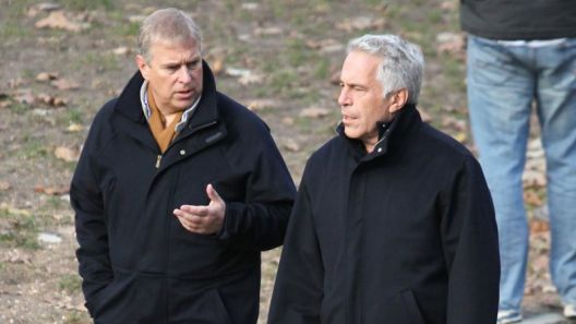 Prince Andrew, left, and Jeffrey Epstein in New York's Central Park