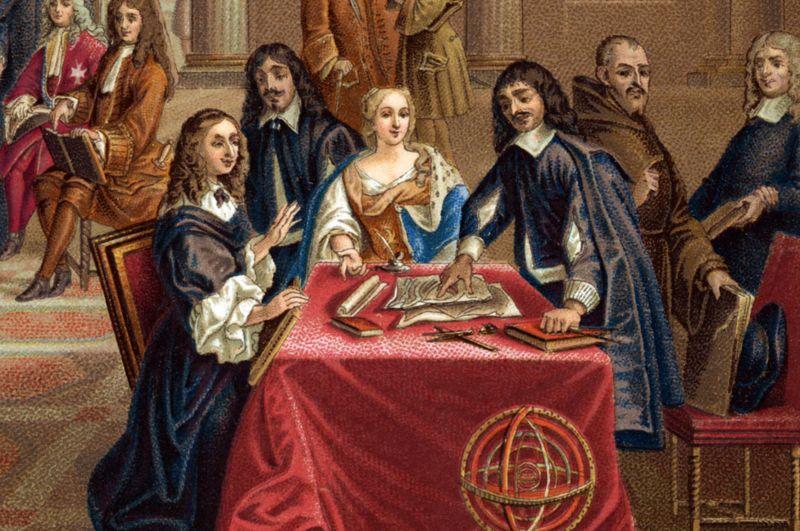 Descartes dando lecciones a la reina de Suecia