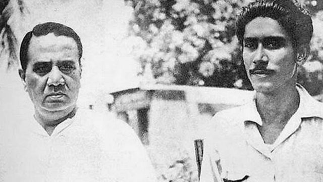 হোসেন শহীদ সোহরাওয়ার্দী ও শেখ মুজিবুর রহমান (ছবি ১৯৪৯)