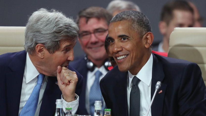 John Kerry và tổng thống Obama