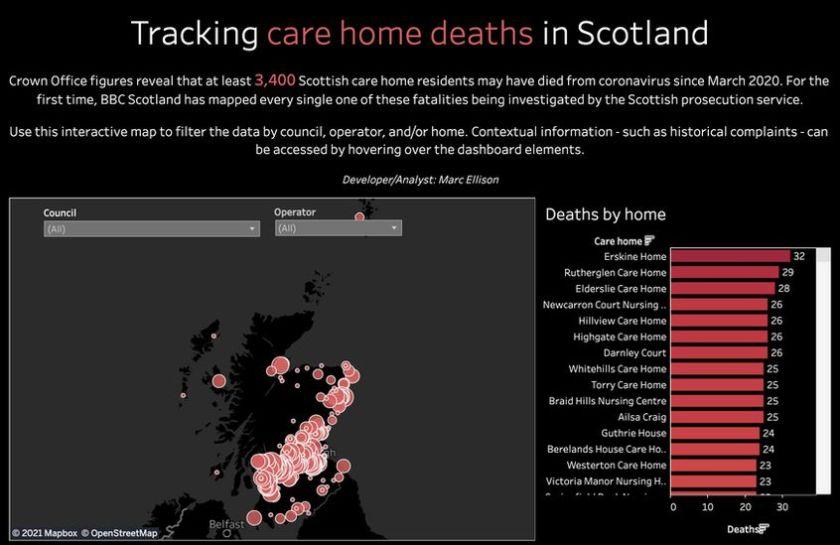 Screengrab of interactive map