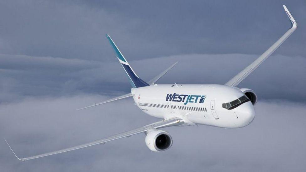 Avión de WestJet