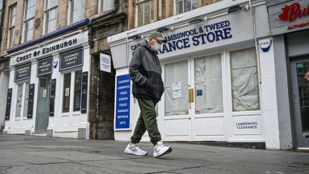 Shops closed in Edinburgh