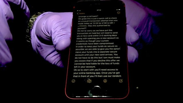 Smartphone scam
