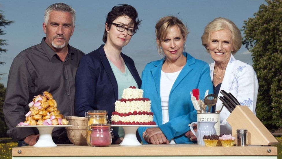 Image result for great british bake off hosts image