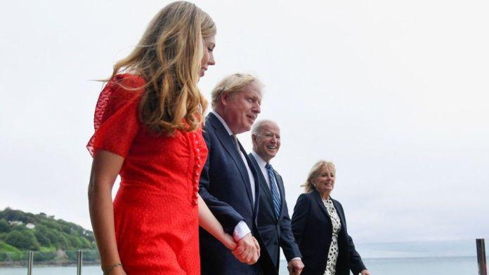 Carrie and Boris Johnson with Joe and Jill Biden
