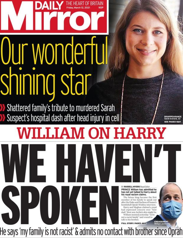 The Daily Mirror 12 March