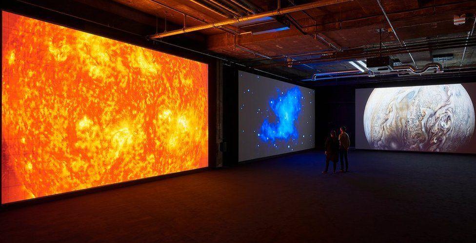 Ryoji Ikeda's Three Screens