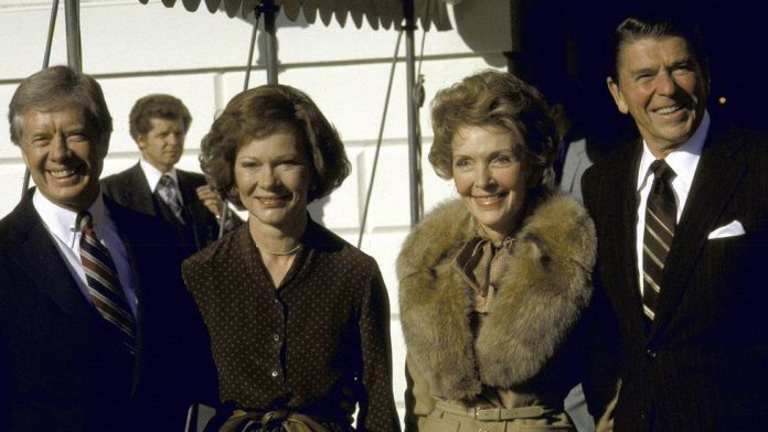 With the Reagans (undated photo)