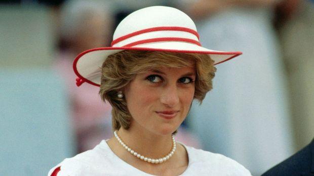Princess Diana wearing a hat