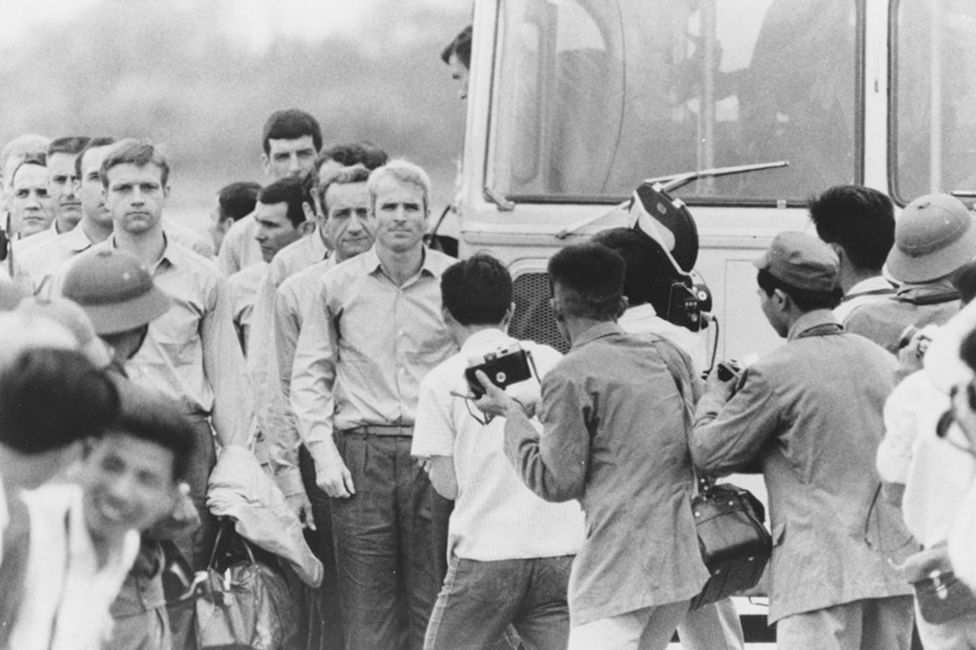 John McCain leaves POW camp