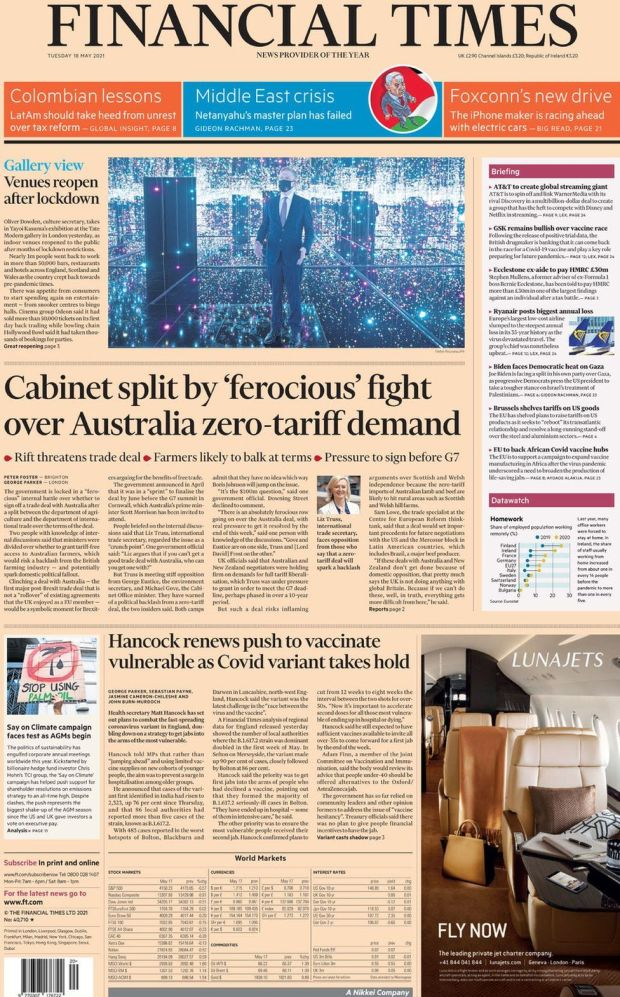 The Financial Times 18 May