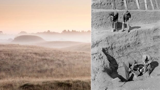 Sutton Hoo mounds and dig