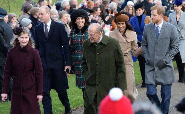 The Duke of Edinburgh captured visiting the church at Sandringham in December 2017