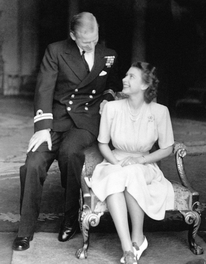 The engagement of Princess Elizabeth to Lieutenant Philip Mountbatten