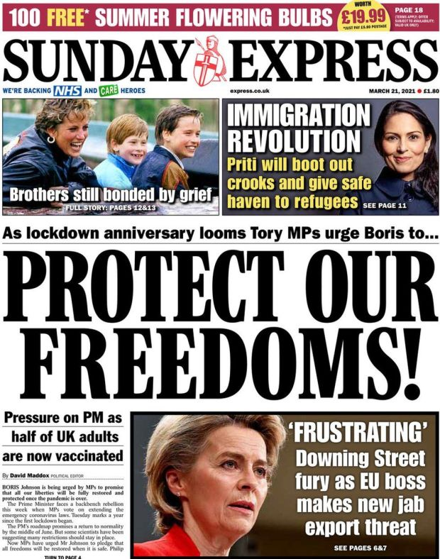 The Sunday Express 21 March