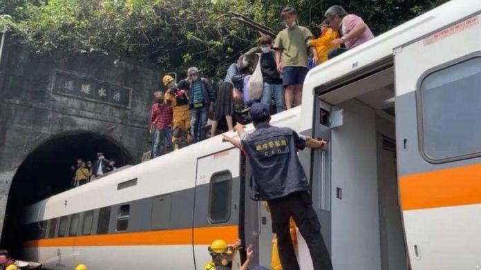 Taiwan rail crash site