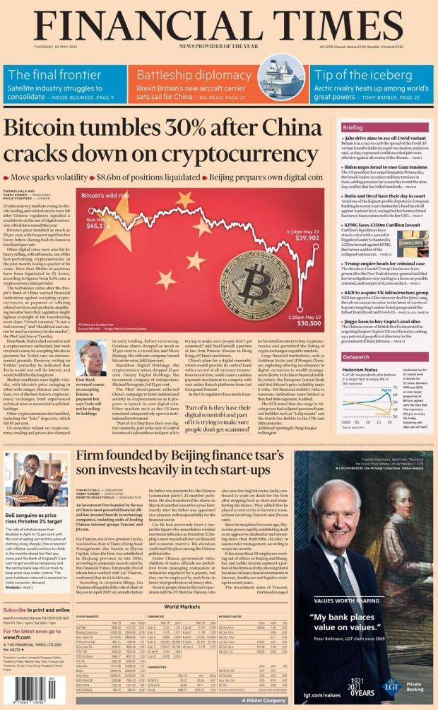 The Financial Times 20 May
