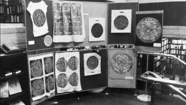 textile work in exhibition