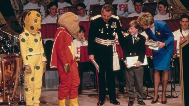 SuperTed and Spotty with the Princess of Wales and Prince William