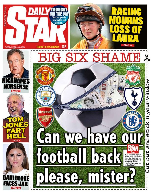 The Daily Star front page 20.04.21