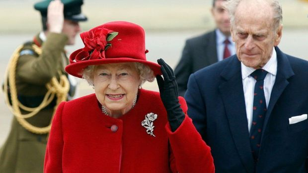 The Queen and the Duke of Edinburgh toured RAF Valley, Anglesey, in 2011