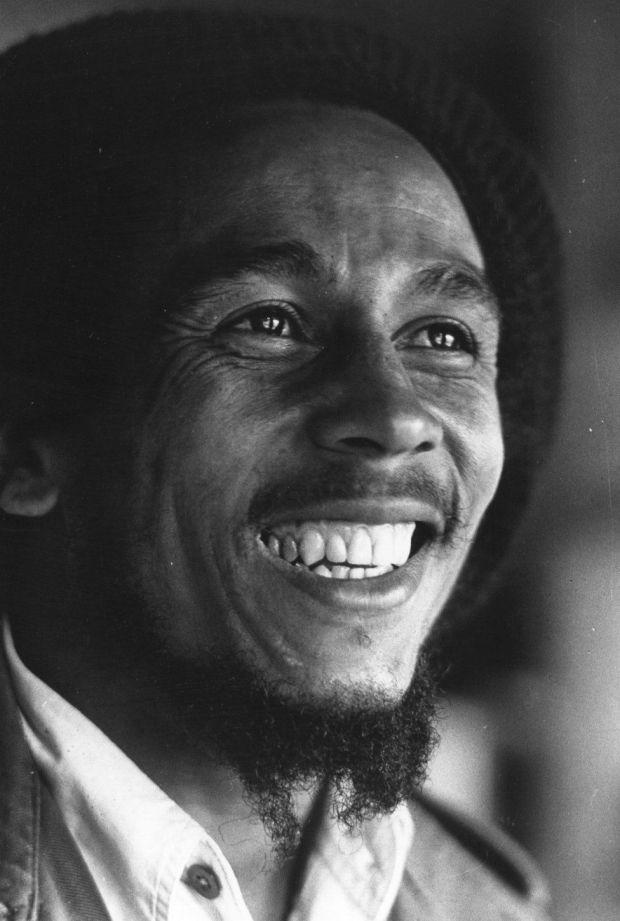 Bob Marley seen in London in 1977