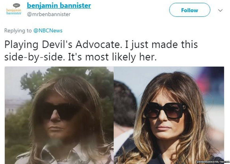 @mrbenbannister writes: Playing Devil's Advocate. I just made this side-by-side. It's most likely her.