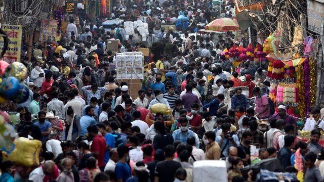 A market in Delhi