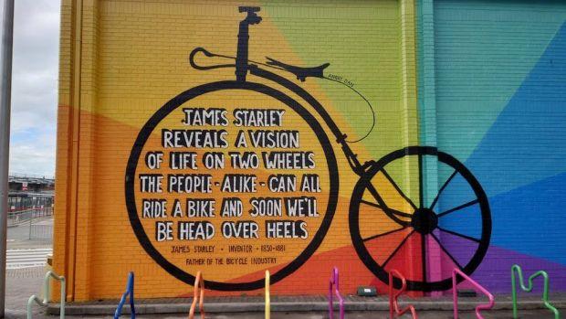 James Starley mural