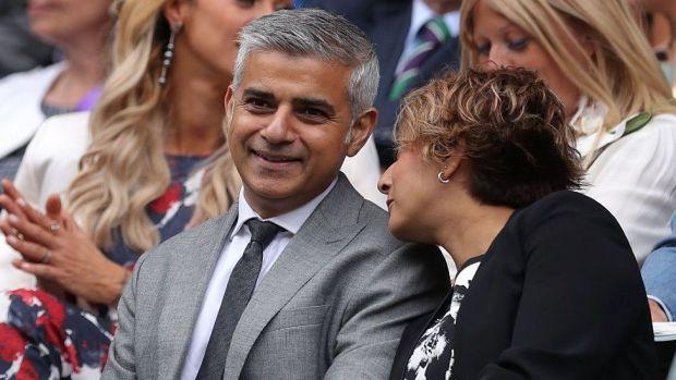 Sadiq Khan and his wife Saadiya