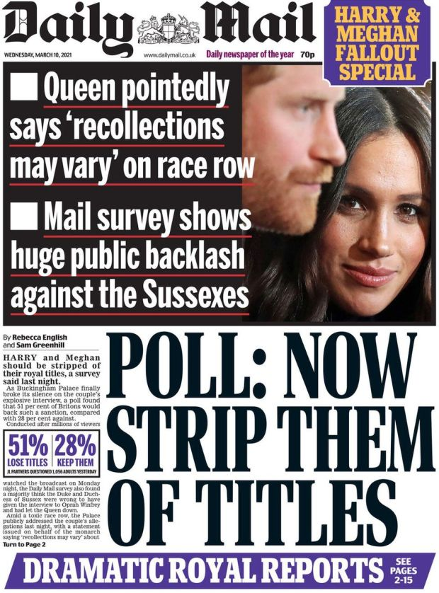 The Daily Mail 10 March