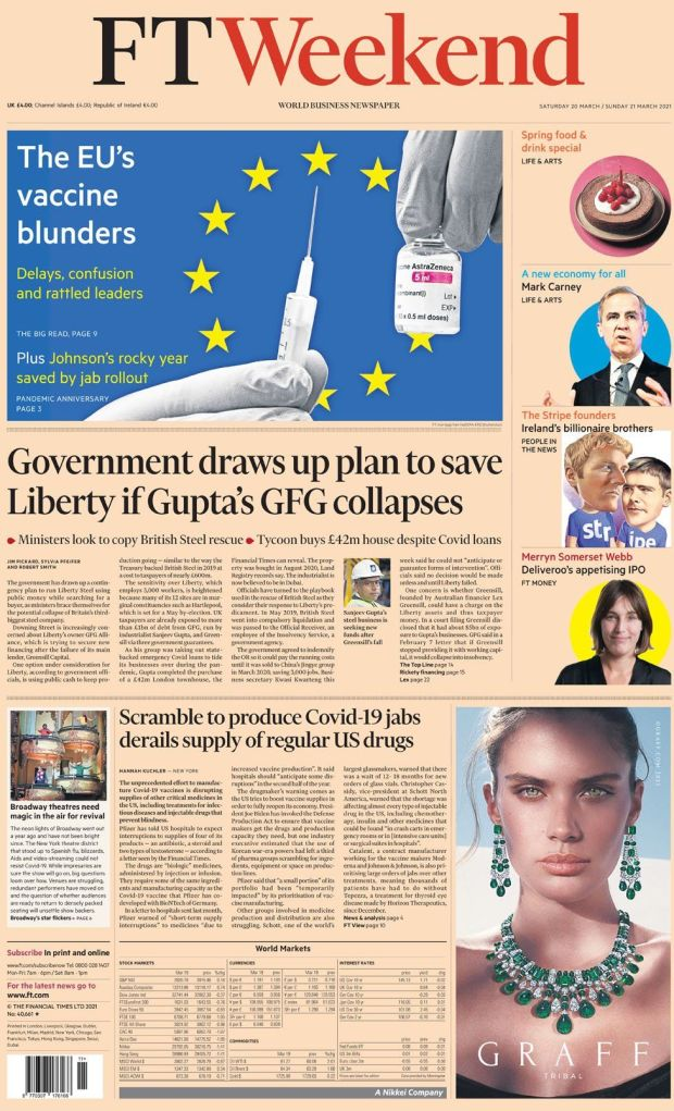 The Financial Times 20 March