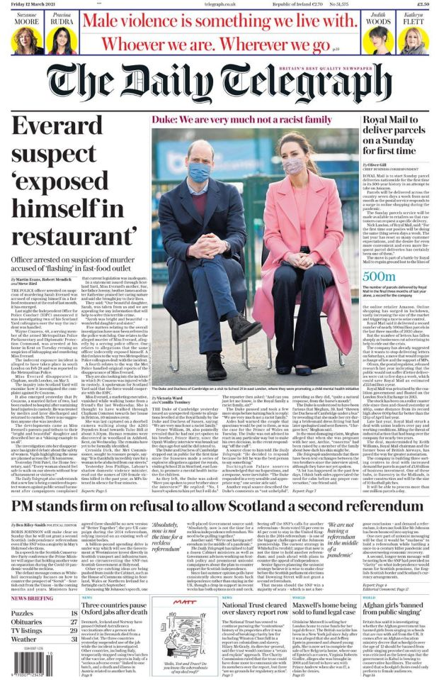 The Daily Telegraph 12 March