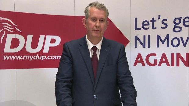 Edwin Poots pictured after winning the leadership of the DUP