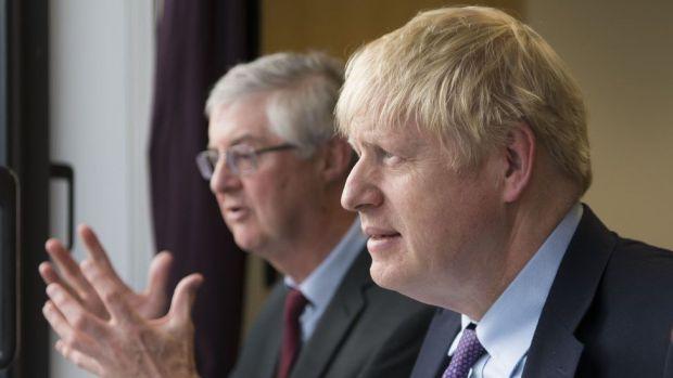 Boris Johnson and Mark Drakeford