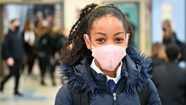 Pupils at Rosshall Academy wear face coverings as it becomes mandatory in corridors and communal areas on August 31, 2020