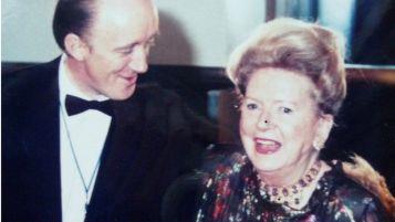 Deborah Kerr on a visit to Glasgow in 1990