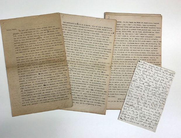 A typed letter by Franz Kafka to his father