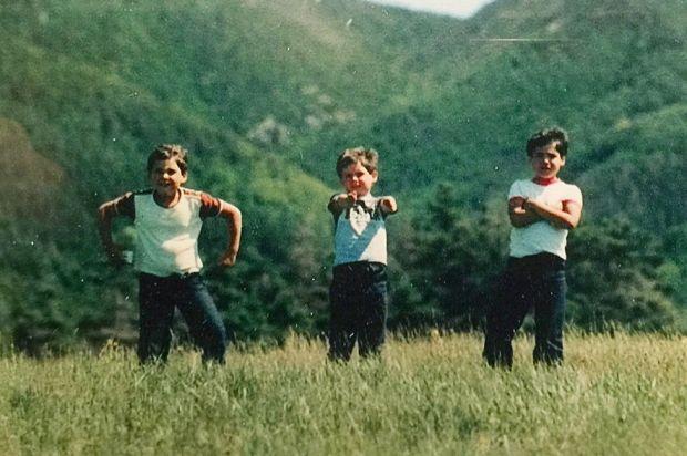 Jerry, Jesse and Josh in Cape Breton, 1980