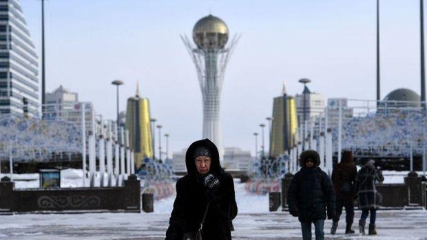 Derechos de autor de la imagen GETTY IMAGES La Torre Bayterek es uno de los símbolos de la ciudad