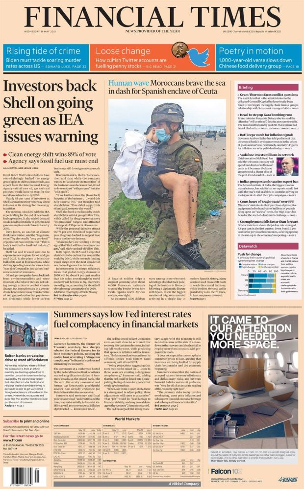 The Financial Times 19 May
